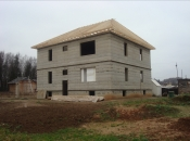 Дом 380м2 с цокольным этажом и бассейном . Монолитное строительство загородных частных домов и коттеджей в Подмосковье