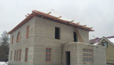 Дом 259м2 с мансардой и балконом