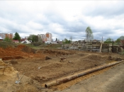 Подготовка основания под площадку. Монолитное строительство загородных частных домов и коттеджей в Подмосковье