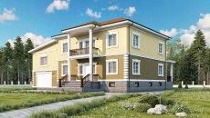 Строительство коттеджа 705 м2 с цокольным этажом и бассейном